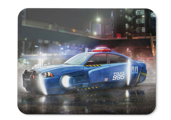 Mouse Pad Spinner Police Car Blade Runner  Dodge Charger Lx - 21.5 X 27 X 0.3cm
