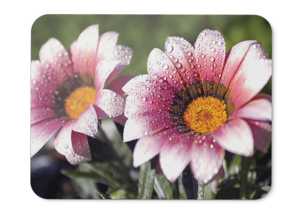 Mouse Pad Spring Flowers Droplets Morning Hd  - 21.5 X 27 X 0.3cm