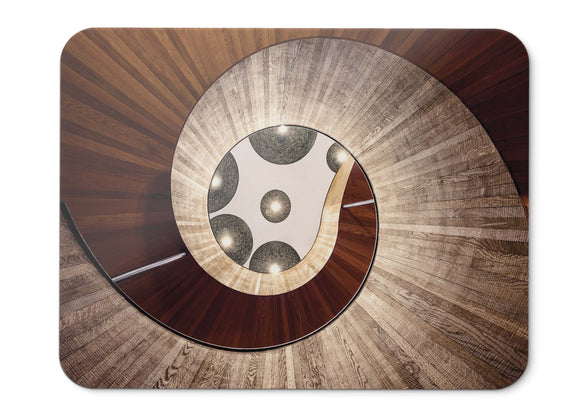 Mouse Pad Staircase Spiral Hotel The Dutch Wooden - 21.5 X 27 X 0.3cm