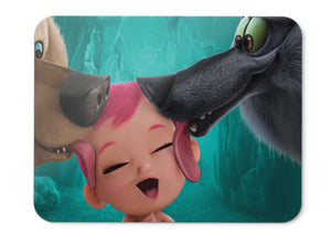 Mouse Pad Storks Wolf Pack Baby Animation - 21.5 X 27 X 0.3cm