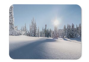 Mouse Pad Strathcona Provincial Park Mount Washington Winter Pine  - 21.5 X 27 X 0.3cm