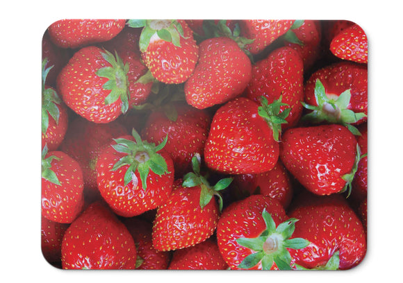 Mouse Pad Strawberries Red Fruits Hd - 21.5 X 27 X 0.3cm