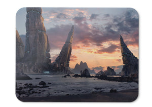 Mouse Pad Structures Rocks Future Colony - 21.5 X 27 X 0.3cm
