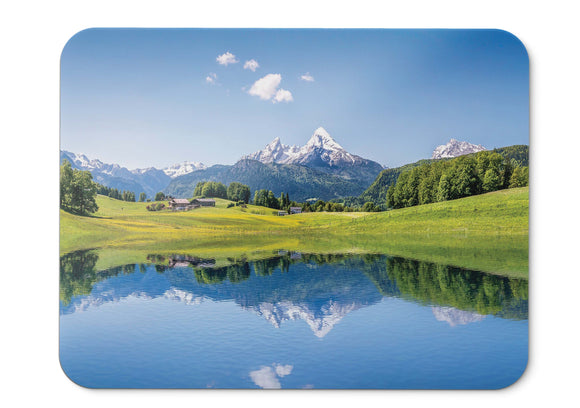 Mouse Pad Summer Mountains Lake Alps - 21.5 X 27 X 0.3cm
