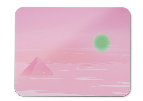 Mouse Pad Sunny Day Pyramid Pink Neon - 21.5 X 27 X 0.3cm