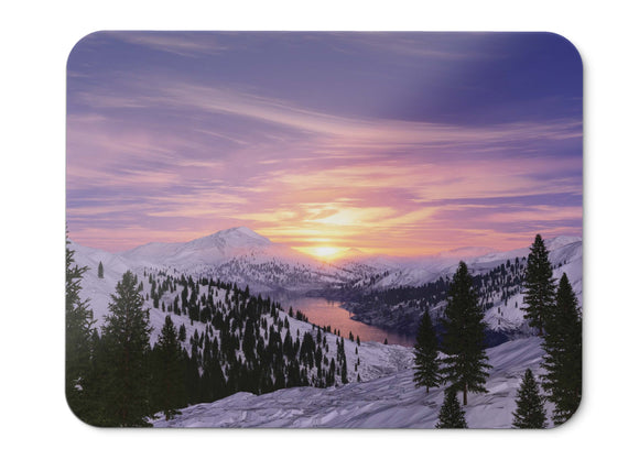 Mouse Pad Sunrise Morning Snow Mountains Lake  - 21.5 X 27 X 0.3cm