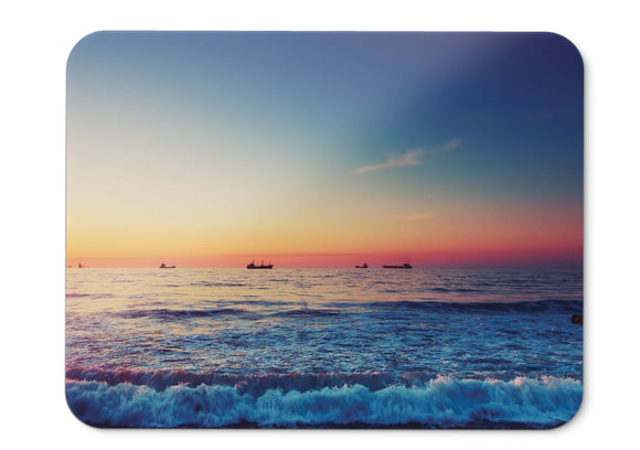 Mouse Pad Sunset Beach Seascape Hd  - 21.5 X 27 X 0.3cm