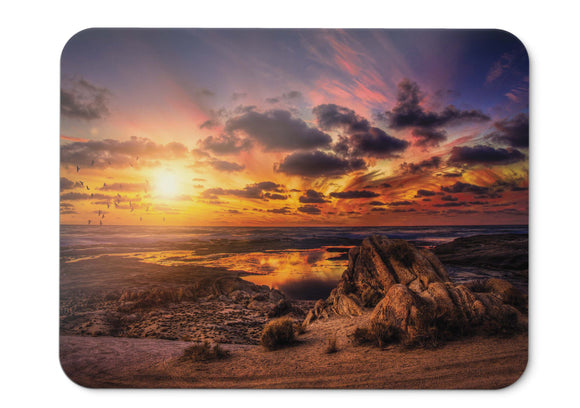 Mouse Pad Sunset Birds Clouds Hd - 21.5 X 27 X 0.3cm