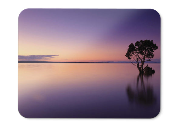 Mouse Pad Sunset Calm Tree Reflection - 21.5 X 27 X 0.3cm