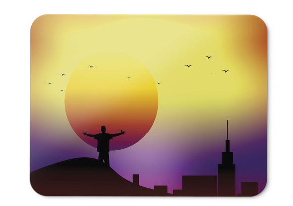 Mouse Pad Sunset Cgi Alone Silhouette  - 21.5 X 27 X 0.3cm