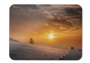 Mouse Pad Sunset Couple Romantic - 21.5 X 27 X 0.3cm