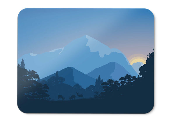 Mouse Pad Sunset Forest Minimal  - 21.5 X 27 X 0.3cm