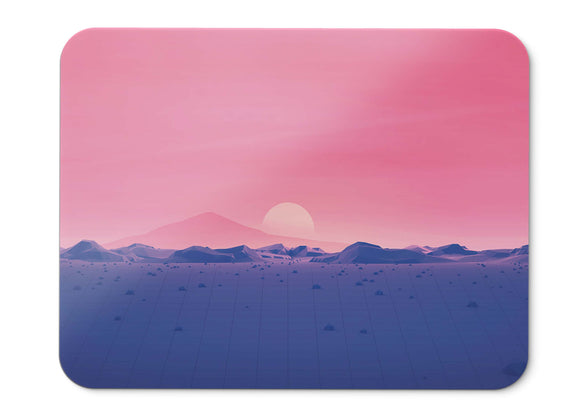 Mouse Pad Sunset Horizon Low Poly  - 21.5 X 27 X 0.3cm