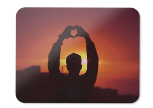 Mouse Pad Sunset Man Silhouette - 21.5 X 27 X 0.3cm