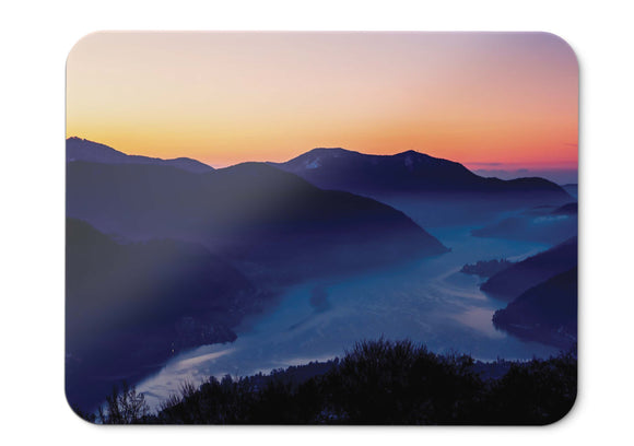 Mouse Pad Sunset Mountains  - 21.5 X 27 X 0.3cm