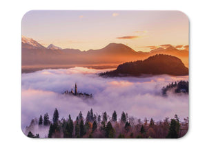 Mouse Pad Sunset Mountains Hd  - 21.5 X 27 X 0.3cm