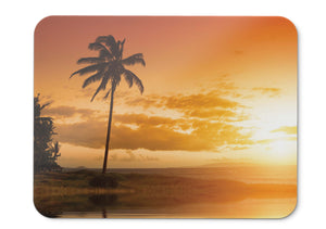 Mouse Pad Sunset Palm Trees - 21.5 X 27 X 0.3cm