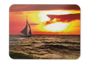 Mouse Pad Sunset Sailboat Twilight Silhouette - 21.5 X 27 X 0.3cm