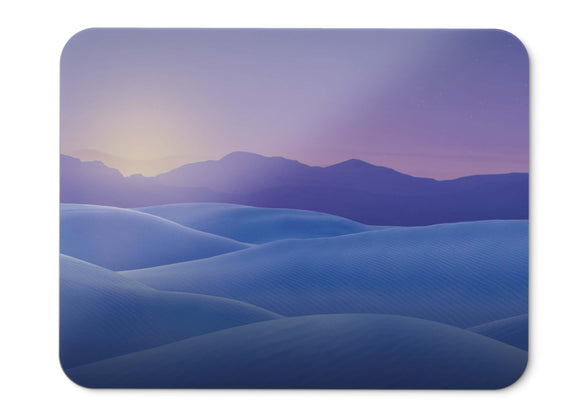 Mouse Pad Sunset Sand Dunes Desert Mountains Minimal Hd  - 21.5 X 27 X 0.3cm