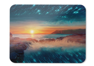 Mouse Pad Sunset Seascape Digital Art - 21.5 X 27 X 0.3cm
