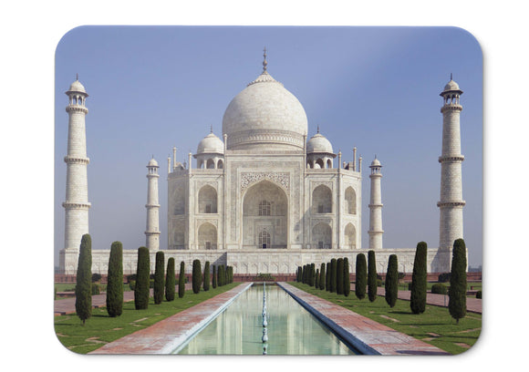 Mouse Pad Taj Mahal World Heritage Site Newwonders Of The World Hd - 21.5 X 27 X 0.3cm