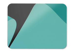 Mouse Pad Teal Curves Turquoise Google Pixel  Stock Dark Amoled Hd  - 21.5 X 27 X 0.3cm