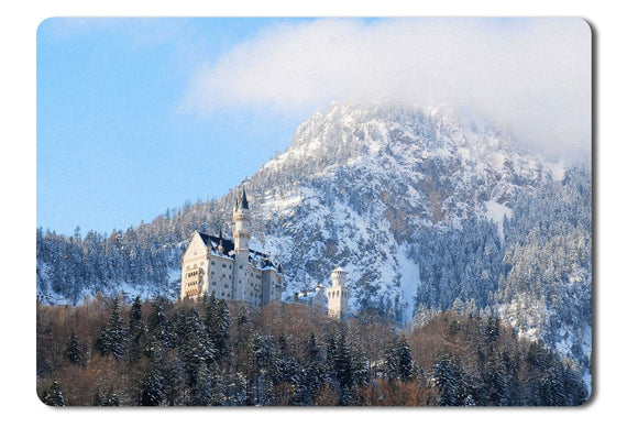 Mouse Pad Neuschwanstein Castle In The Winter - 21.5 X 27 X 0.3cm