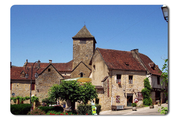 Mouse Pad Old Small Town In France - 21.5 X 27 X 0.3cm