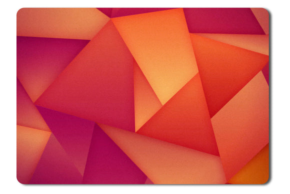 Mouse Pad Orange And Purple Polygons - 21.5 X 27 X 0.3cm