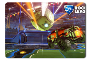Mouse Pad Orange Car Heading For A Goal In Rocket League - 21.5 X 27 X 0.3cm