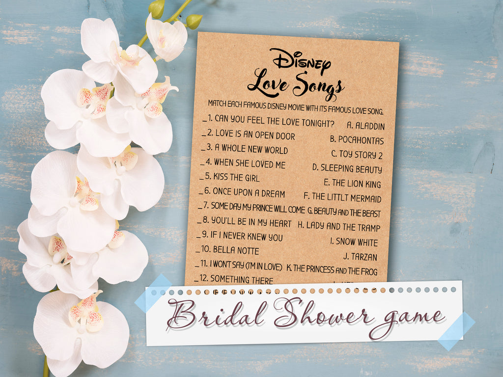 disney love quotes bridal shower game disney love songs wedding shower game bachelorette party