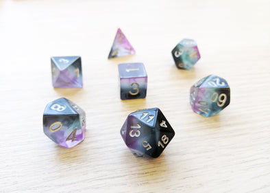 Asexual Pride Flag Polyhedral Dice Set - Ace Dice