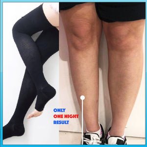 Sculpting Night Thigh High Compression Stockings