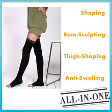 Load image into Gallery viewer, Sculpting Night Thigh High Compression Stockings