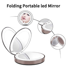 Load image into Gallery viewer, Portable Phone Charger Makeup Mirror