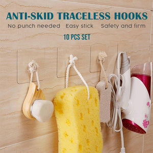 Anti-skid Traceless Reusable Hooks (10 PCS)