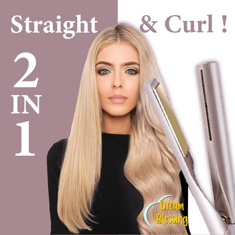 2 in 1 Curl Straight Hair Iron