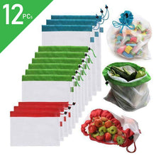 Load image into Gallery viewer, Waste Free Reusable Produce Bags(12PCS)