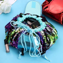 Load image into Gallery viewer, Mermaid Sequins Drawstring MakeUp Bag