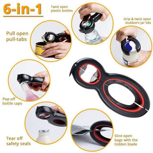 Multi-function 6 in 1 Opener