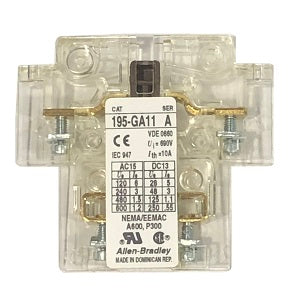 Allen-Bradley (AB) Auxiliary Contact 195-GA11 - Northeast Parts
