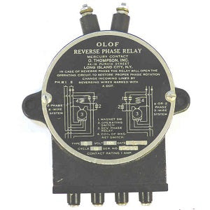 "OLOF Type ""A"" Reverse Phase Relay - Northeast Parts"