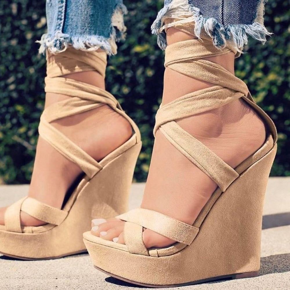 Women High-heeled Casual Sexy Summer High Waterproof Platform Slope Shoes High Quality Sandals