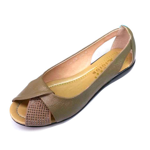 Peep Toe Breathable Casual Flat Shoes