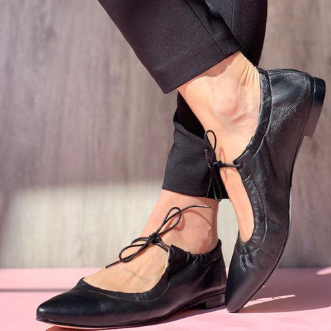 Closed Toe Mary Jane Lace-up Vintage