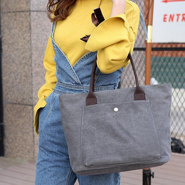Vintage Canvas Casual Shopping Shoulder Bag Handbag For Women