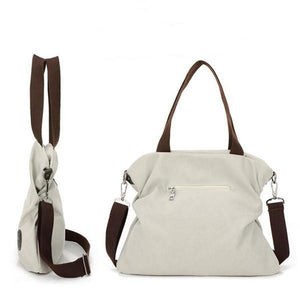 Women Casual Canvas Large Capacity Handbag Outdoor Shoulder Bag