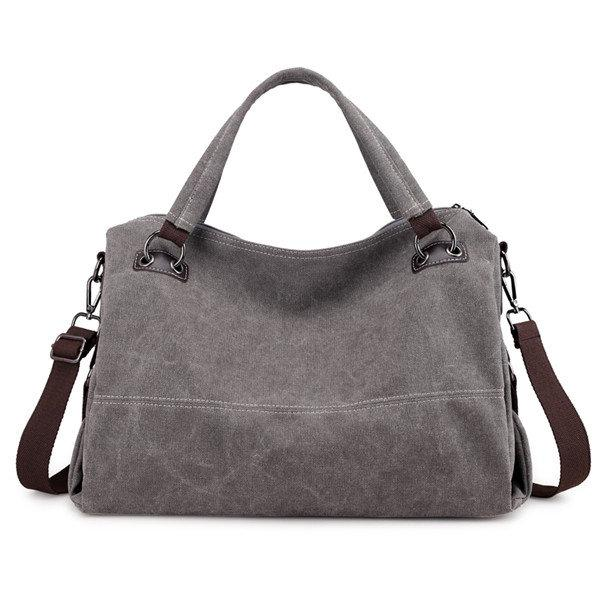 KVKY Casual Canvas Tote Handbag Vintage Shoulder Bag