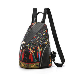 Leisure Print Multi-function Travel Anti-theft Backpack Shoulder Bag