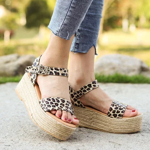 Women's Casual Wedge Heel Open Toe Espadrille Sandals